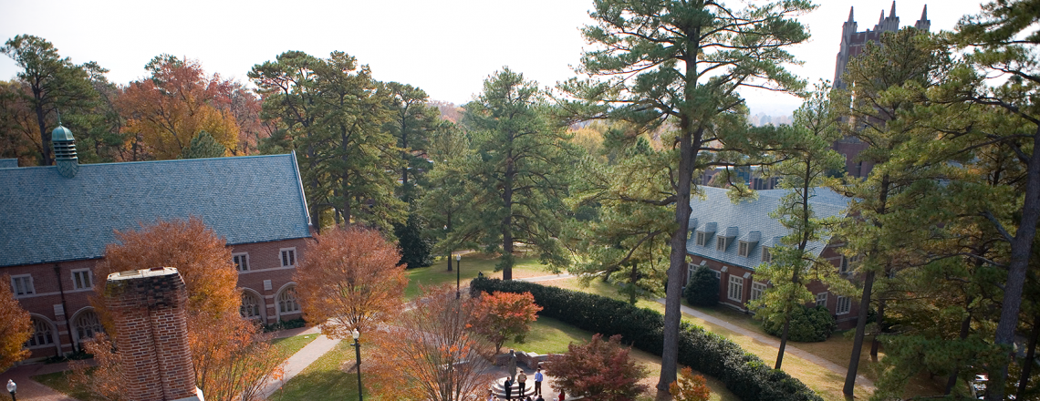 outside picture of the Richmond campus during autumn